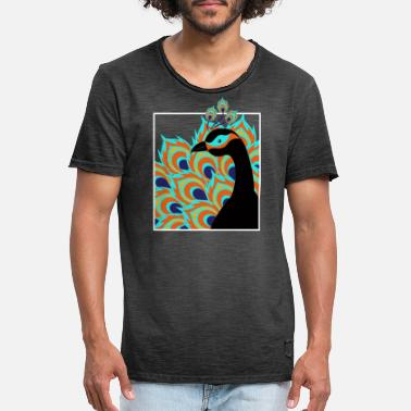 Pavo Real pavo real - Camiseta vintage hombre