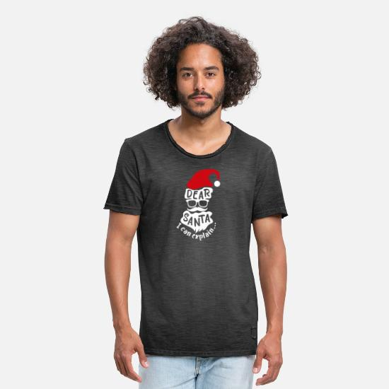 Request T-Shirts - Christmas Dear Santa I can explain gift idea - Men's Vintage T-Shirt washed black