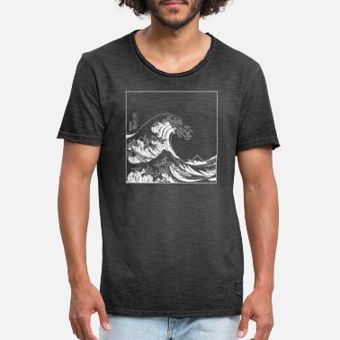 Japan Welle Kanagawa Wave - Männer Vintage T-Shirt