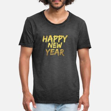 Happy New Year Happy new year - Mannen vintage T-shirt