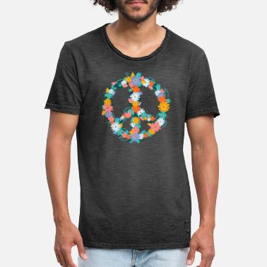 Sign Peace Sign Peace Sign - Vintage T-shirt herr