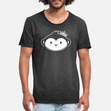 Spreadfeelings Monkey Queen - Maglietta vintage uomo