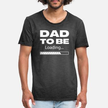 Cooler Dad To Be Loading White - Men's Vintage T-Shirt