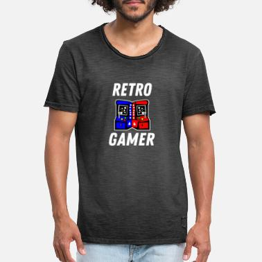 Retrogaming Gameroverhemd Retrogaming gamer van de giftspeler - Mannen vintage T-shirt
