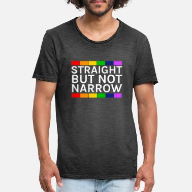 Hetero Straight but not narrow! LGBT & Hetero - Männer Vintage T-Shirt