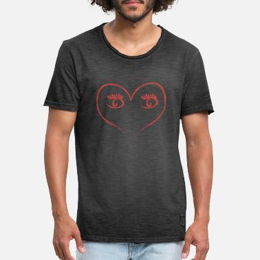 Red Heart Red Heart - Men's Vintage T-Shirt