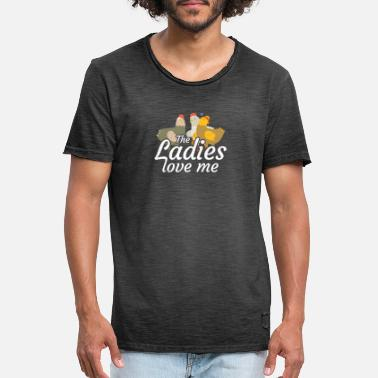 Ranch The ladies love me design for patriotic - Men's Vintage T-Shirt