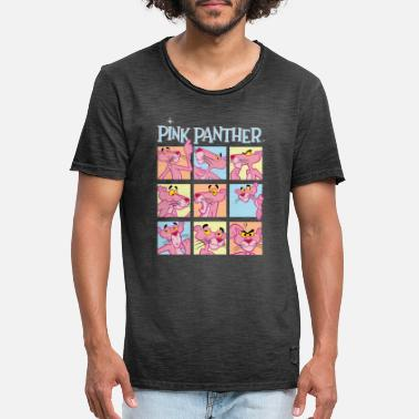 Pink Pink Panther Expressions - Men's Vintage T-Shirt