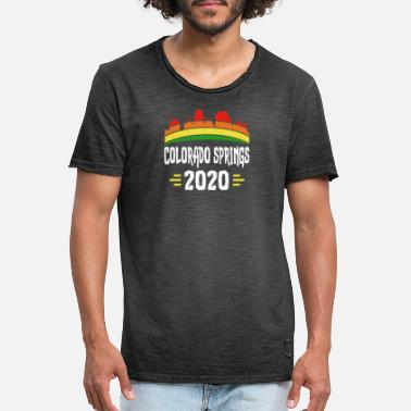 Colorado Springs Citytrip 2020 Colorado Springs USA - Mannen vintage T-shirt