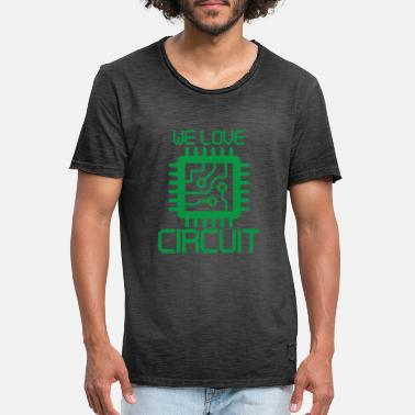 Computer circuit - Men's Vintage T-Shirt
