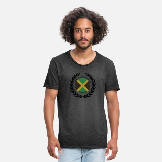 Skins T-Shirts - jamaica 1969 skinhead shirt - Men's Vintage T-Shirt washed black