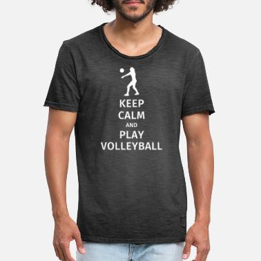 keep calm and play volleyball - Vintage T-shirt herr