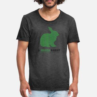 green rabbit - Men's Vintage T-Shirt
