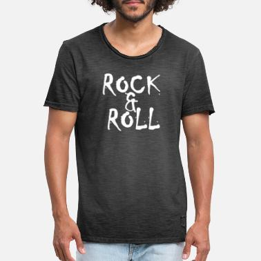 Roll Rock and roll thee ✅ - Mannen vintage T-shirt