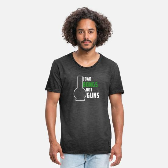 Top T-Shirts - Bong - Men's Vintage T-Shirt washed black