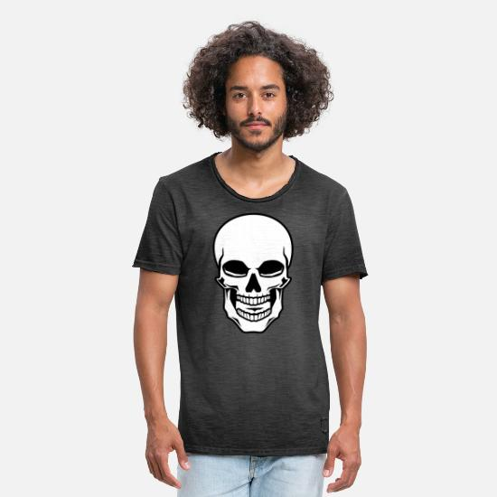 Symbol  T-Shirts - Skull Skull Skull - Halloween Shirt Gift - Men's Vintage T-Shirt washed black