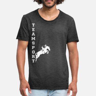 Teamsport Teamsport Springreiter White - Männer Vintage T-Shirt