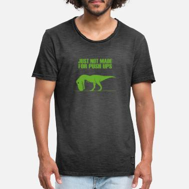 Rex T rex no like push ups gym funny fun - Men's Vintage T-Shirt