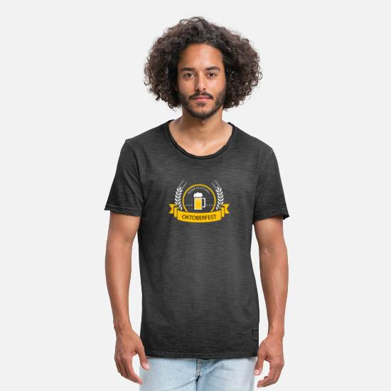Gift Idea T-Shirts - Oktoberfest Beer Festival Beer Festival - Men's Vintage T-Shirt washed black