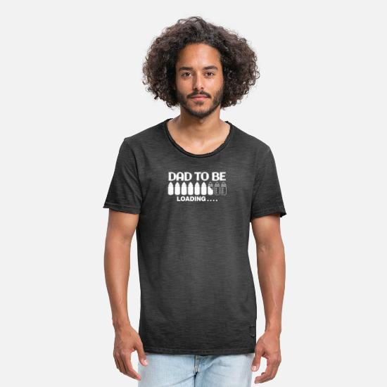 Dad T-shirts - Dad To Be Loading - Mannen vintage T-shirt vintage zwart