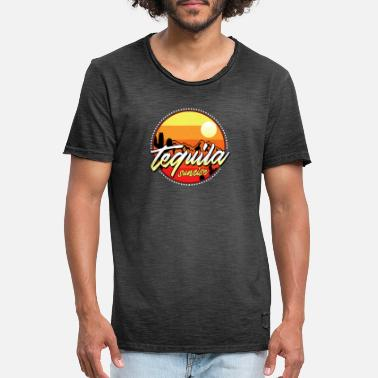 Tequila Sunrise Tequila Sunrise - Vintage T-skjorte for menn