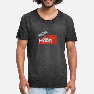 Mars Occupy Mars Satellite Logo Red Planet Space - Miesten vintage t-paita