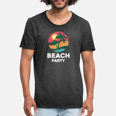 Beach Party beach party - T-shirt vintage Homme