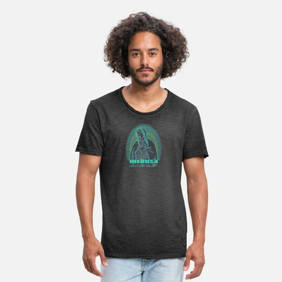 Guardian Angel T-Shirts - Maria De Guadalupe Save the World by Meduza Berlin - Men's Vintage T-Shirt washed black