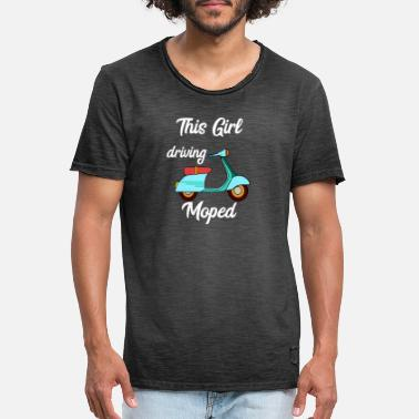 This Girl Driving Moped Driver Oldschool Scooter - Men's Vintage T-Shirt