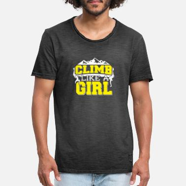 Like Climb Like A Girl Bouldering Montagnes d'escalade - T-shirt vintage Homme