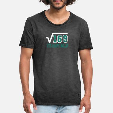 Square Square Root of 169 Tee Shirt 13th Birthday - Men's Vintage T-Shirt