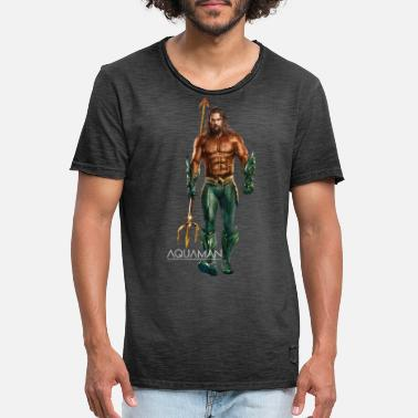 Aquaman Film Aquaman Portrait - Vintage T-skjorte for menn