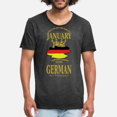 January Born in January - Men's Vintage T-Shirt
