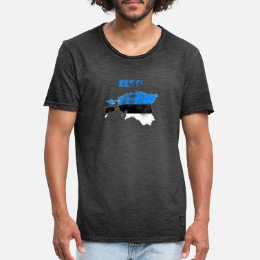 Estonia Estonia flag map retro - Men's Vintage T-Shirt