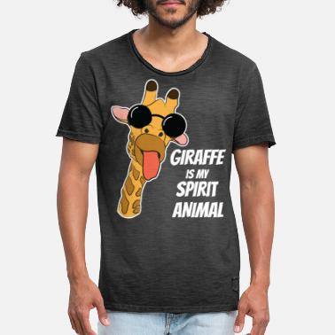 Giraffe Spirit Animal Camelopard Zoo Africa Gift - Men's Vintage T-Shirt