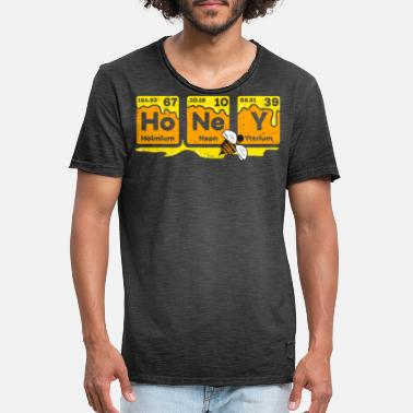 Hive Honey Periodic Table Beekeeper Bee Hives Gift Idea - Männer Vintage T-Shirt