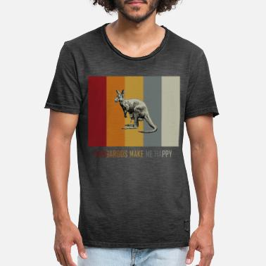 Down Under Känguru retro vintage - Männer Vintage T-Shirt