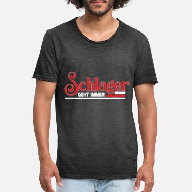 German Schlager Schlager - Men's Vintage T-Shirt