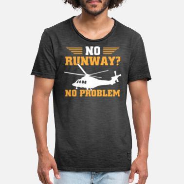9f4b6af50 Funny Pilot Funny helicopter pilot - Men's Vintage T-Shirt