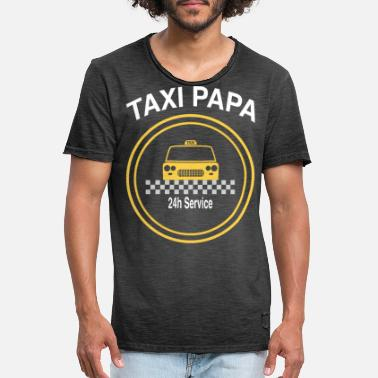 Taxi Taxi far - Vintage T-skjorte for menn