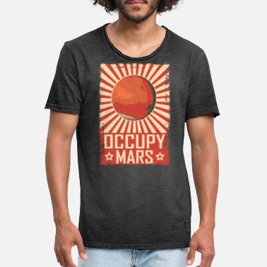 Solaire Retro Occupy Mars - T-shirt vintage Homme