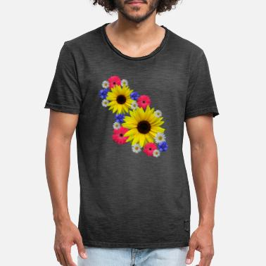 Sunflowers, sunflower, gerberas, daisies - Men's Vintage T-Shirt
