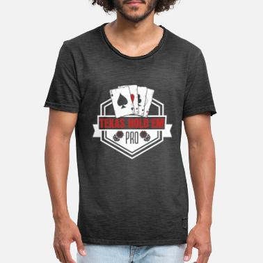 Texas Hold'em Texas Hold'em - Vintage T-skjorte for menn