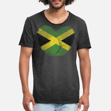 Jamaican Creole Jamaica Heart Group Tee Shirts - Men's Vintage T-Shirt