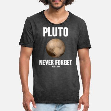Forget Pluto Never Forget Astronomy Solar System Planet - Men's Vintage T-Shirt