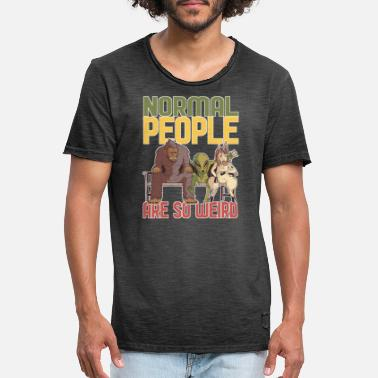 Weird Normal People Are So Weird - Men's Vintage T-Shirt