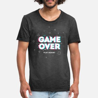 Game Over - Play Again? - Men's Vintage T-Shirt