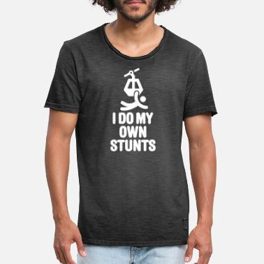 I Do My Own Stunts Ski I do my own stunts - ski lift - chairlift - Vintage T-shirt mænd