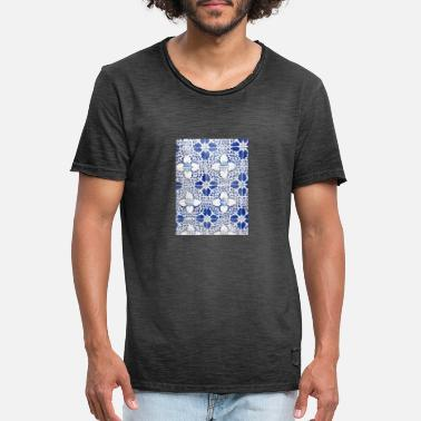 Portuguese tile design 1 - Men's Vintage T-Shirt