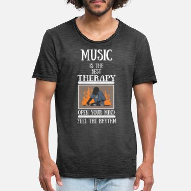 Therapy Music Therapy Rave Techno Cool T-Shirt Gift - Men's Vintage T-Shirt